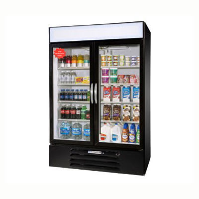 "Beverage Air MMF49-1-B 52"" Two Section Display Freezer w/ Swinging Doors, Bottom Mount Compressor, 115v"
