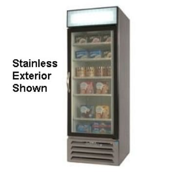 "Beverage Air MMR27-1-B-LED 30"" One-Section Glass Door Merchandiser w/ Swing Door, 115v"