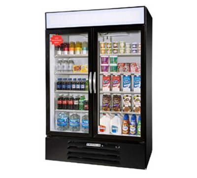 """Beverage Air MMR49-1-B-LED 52"""" Two-Section Glass Door Merchandiser w/ Swing Doors, 115v"""