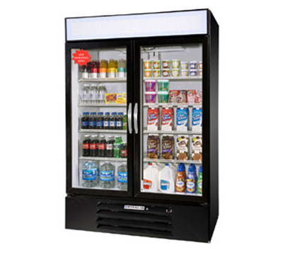 "Beverage Air MMR49-1-W-LED 52"" Two-Section Glass Door Merchandiser w/ Swing Doors, 115v"
