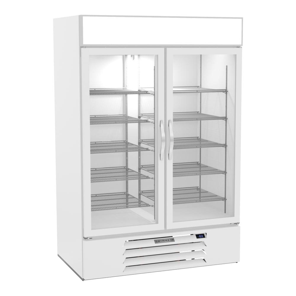 """Beverage Air MMR49HC-1-W 52"""" Two-Section Glass Door Merchandiser w/ Swing Door, 115v"""
