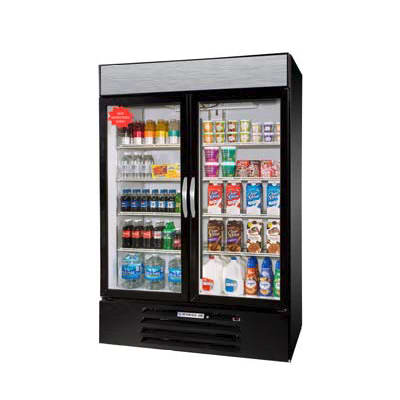 "Beverage Air MMRF49-1-BW-A-LED 52"" Two-Section Glass Door Merchandiser w/ Swing Doors, 115v"