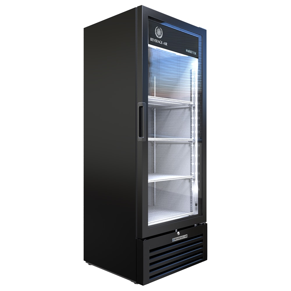 "Beverage Air MT12-1B 25"" One Section Glass Door Merchandiser w/ Swing Door, Black, 115v"