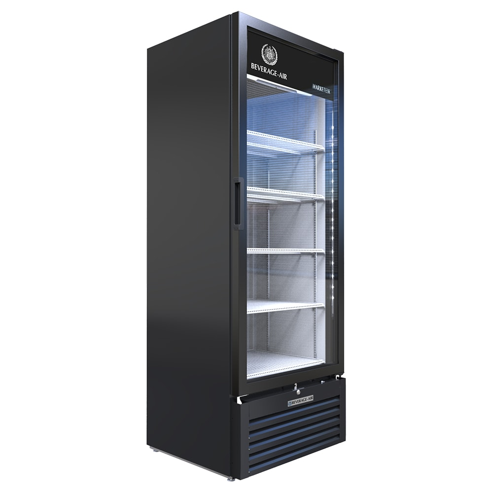 "Beverage Air MT23-1B 30"" One Section Glass Door Merchandiser w/ Swing Door, Black, 115v"