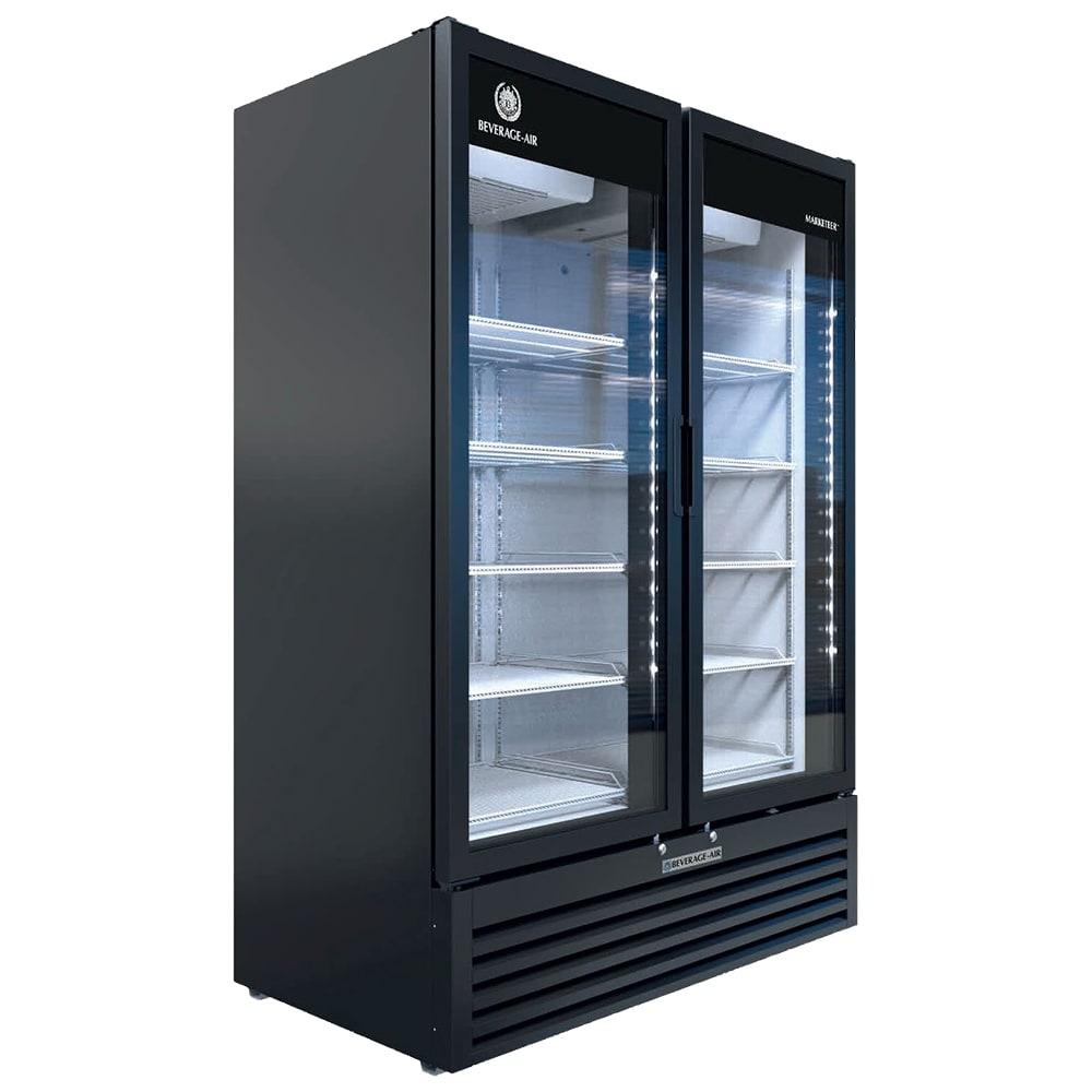 """Beverage Air MT53-1B 54"""" Two-Section Glass Door Merchandiser w/ Swing Doors, 115v"""