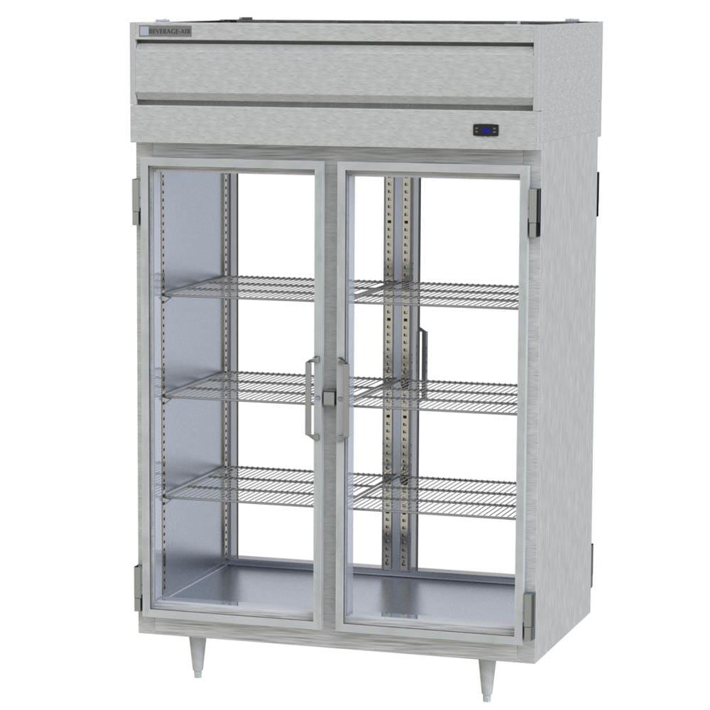 "Beverage Air PRD2-1BG 52"" Two Section Pass-Thru Refrigerator, (4) Glass Door, 115v"