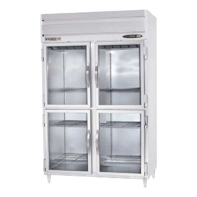 "Beverage Air PRD2-1BHG 52"" Two Section Pass-Thru Refrigerator, (8) Glass Door, 115v"