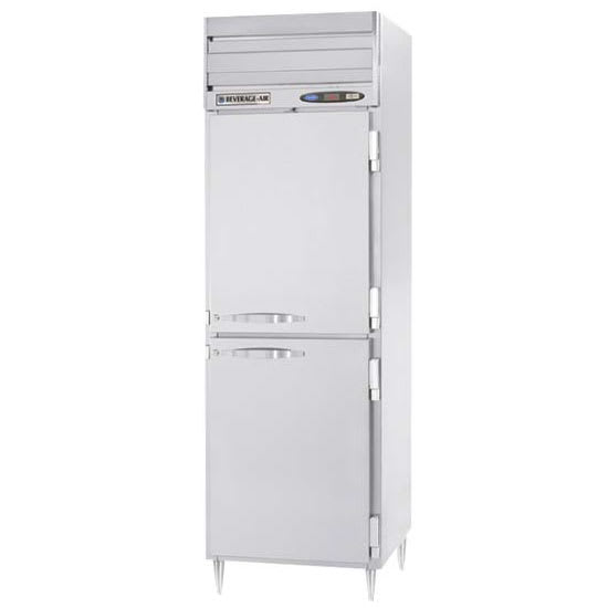 "Beverage Air PRF12-12-1HS02 26"" One Section Commercial Refrigerator Freezer - Solid Doors, Top Compressor, 115v"