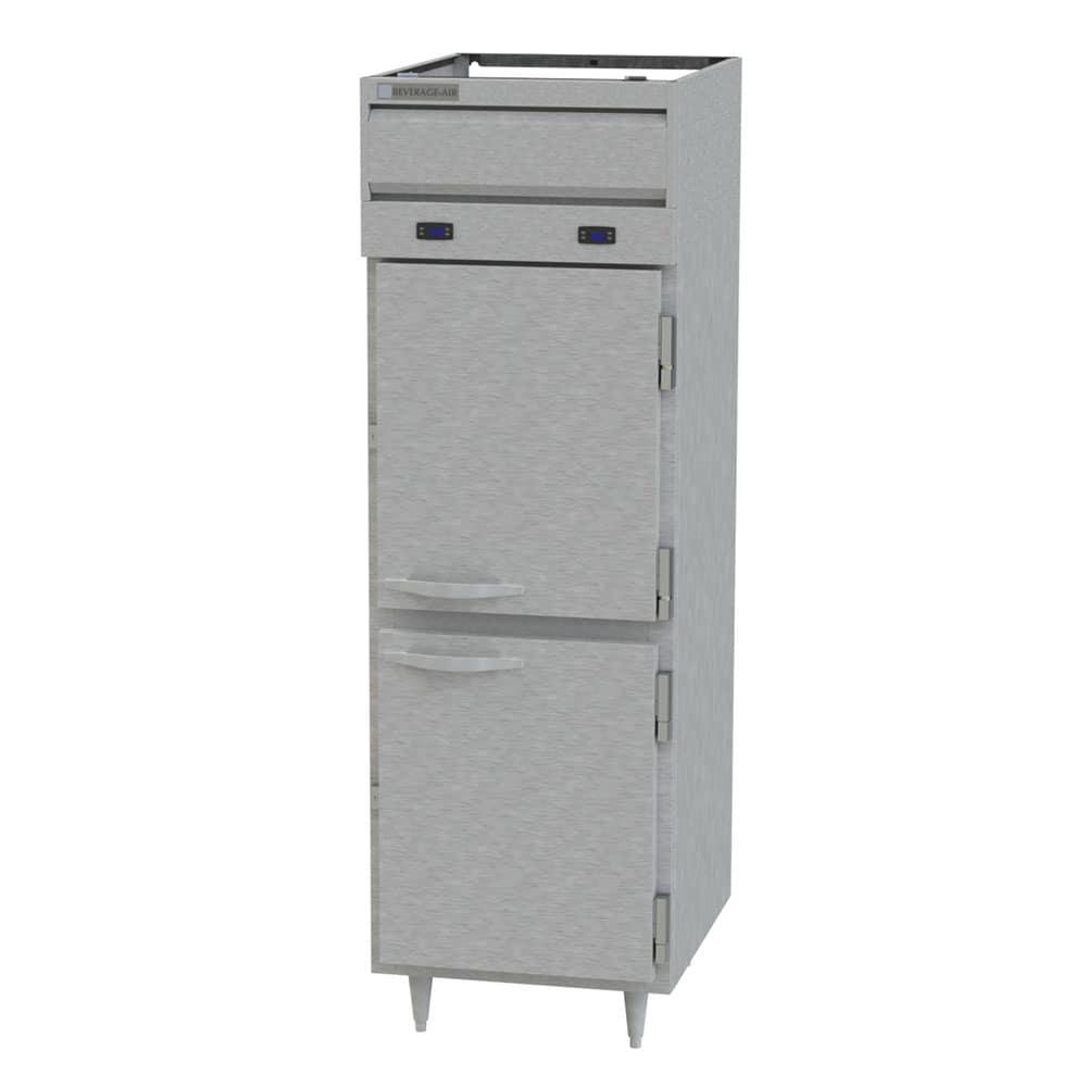 """Beverage Air PRF12-12HC-1HS-02 26"""" One Section Commercial Refrigerator Freezer, Solid Doors, Top Compressor, 115v"""