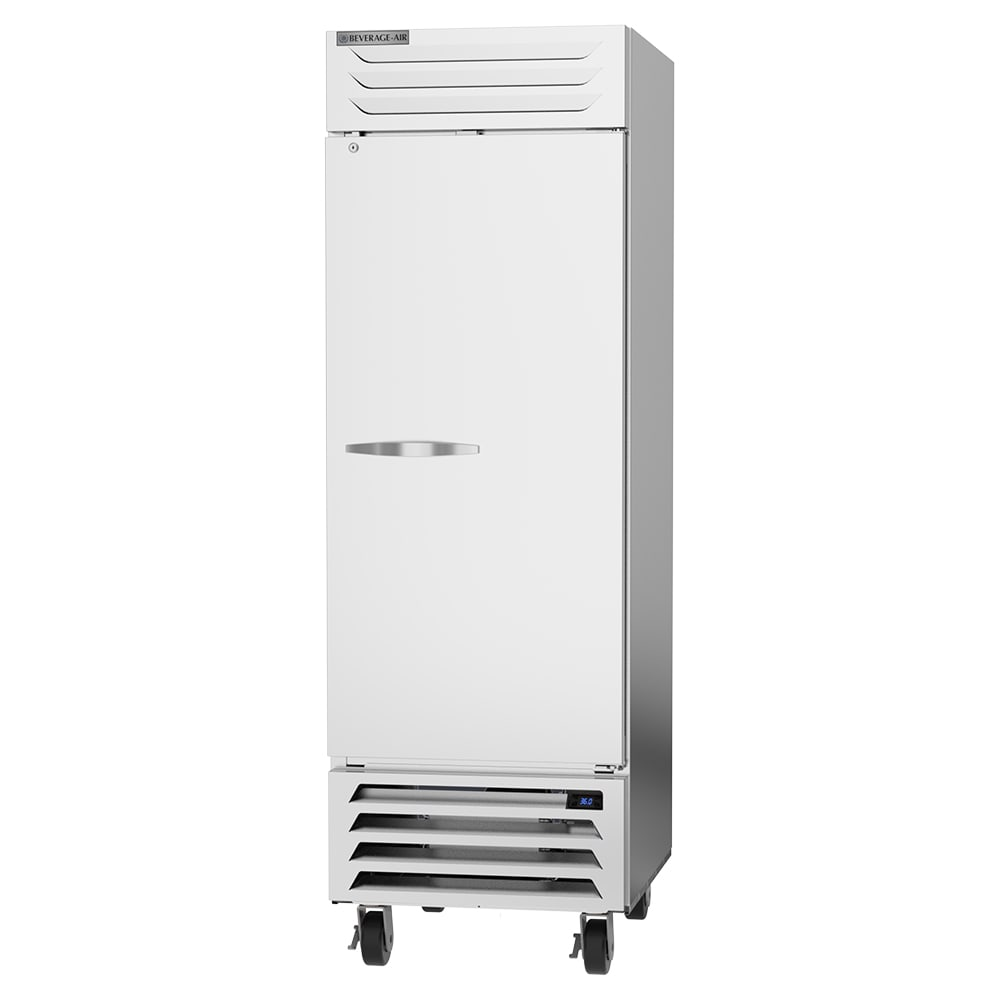 "Beverage Air RB23HC-1S 27.25"" Single Section Reach-In Refrigerator, (1) Solid Door, 115v"
