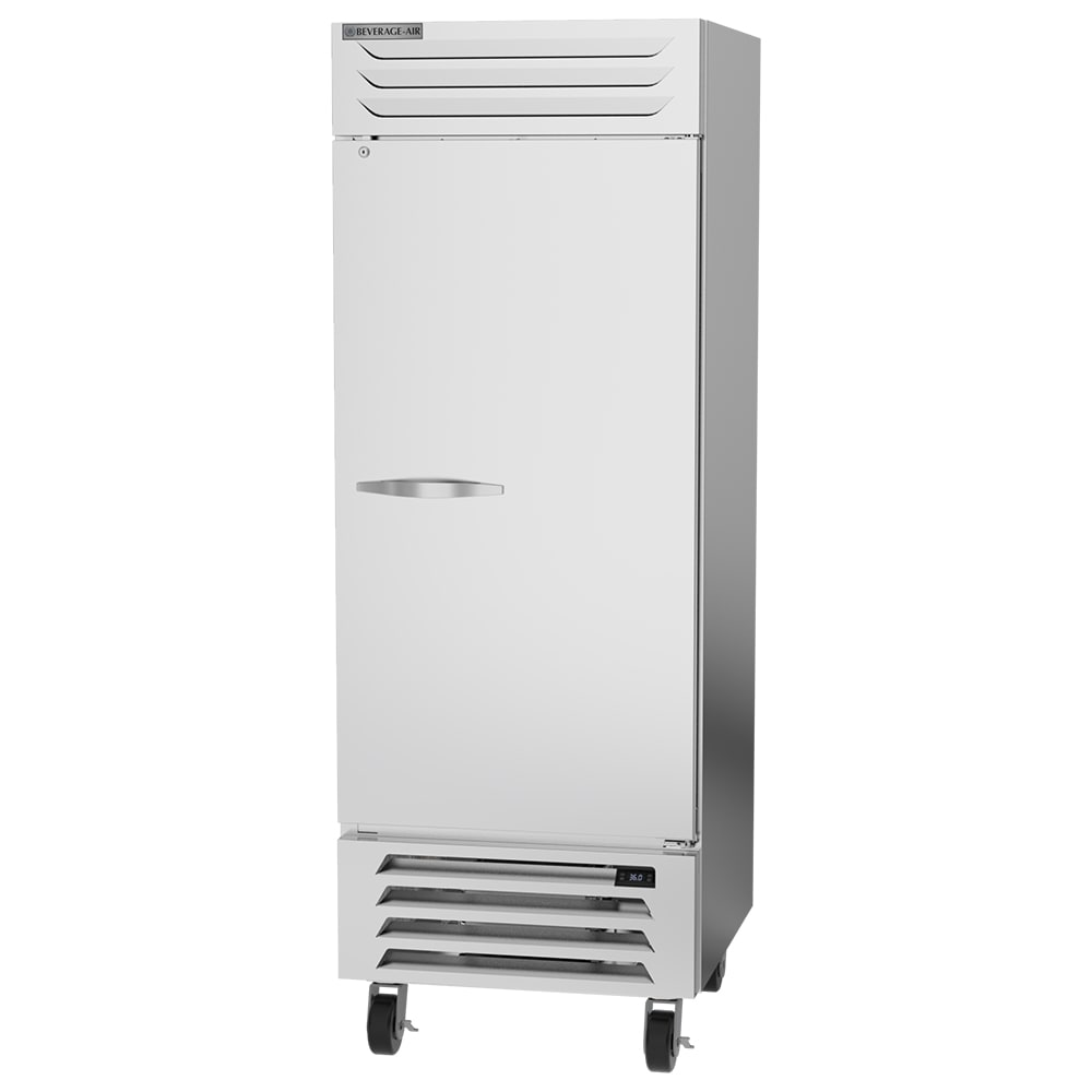 "Beverage Air RB27HC-1S 30"" One-Section Reach-In Refrigerator, (1) Solid Door, 115v"