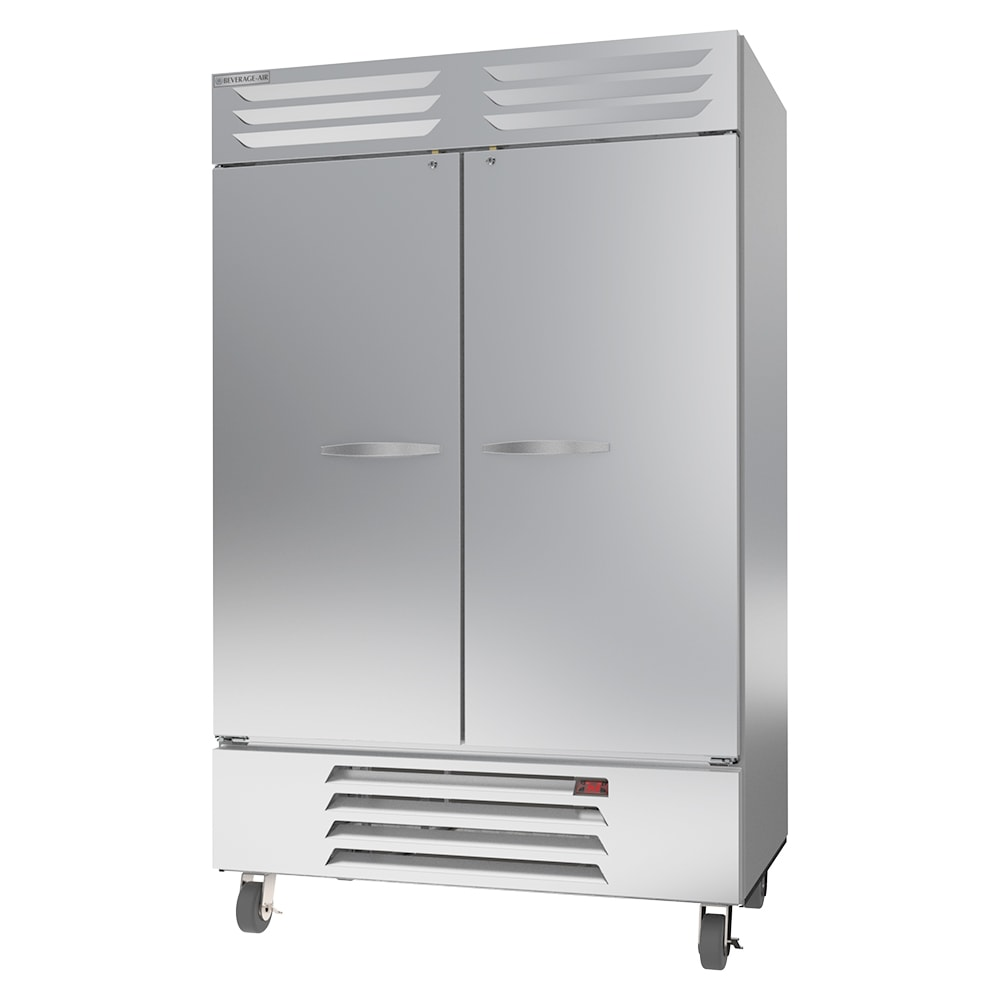 "Beverage Air RB49HC-1S 52"" Two Section Reach-In Refrigerator, (2) Solid Doors, 115v"