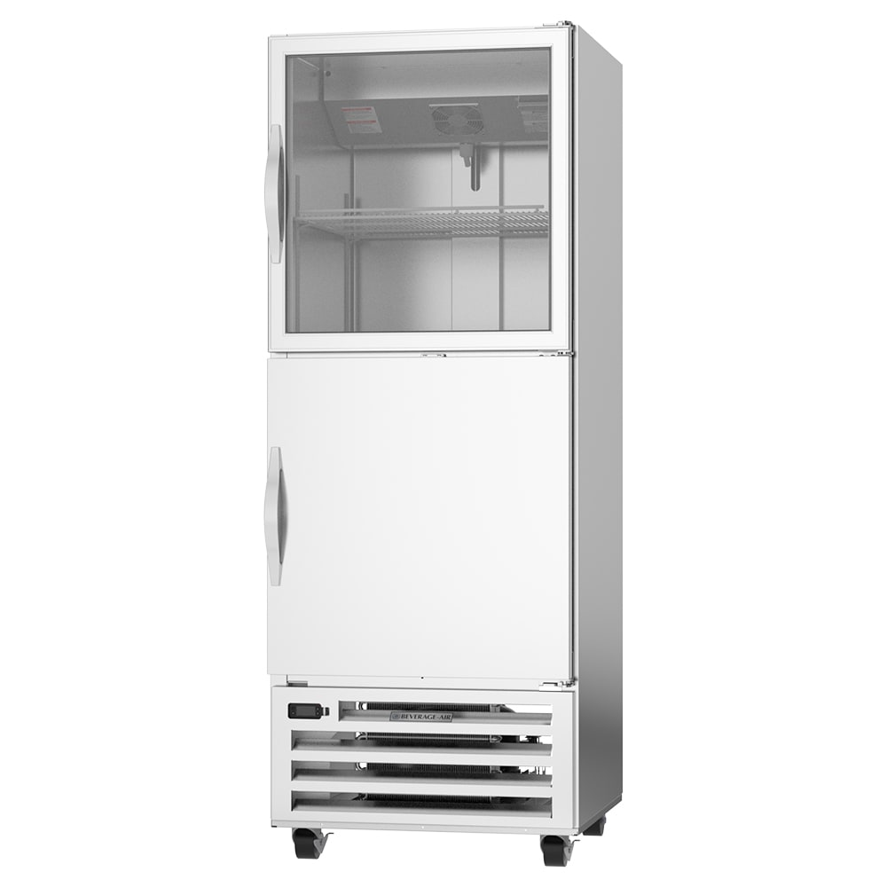"""Beverage Air RID18HC-HGS 27.25"""" Single Section Pass Thru Reach-In Refrigerator, (2) Solid & (1) Glass Doors, 115v"""