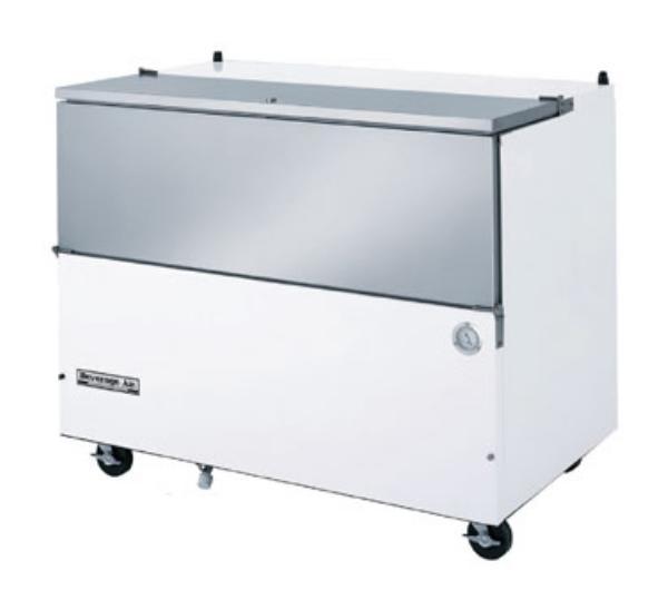 Beverage Air SM49N-S Milk Cooler w/ Top & Side Access - (768) Half Pint Carton Capacity, 115v