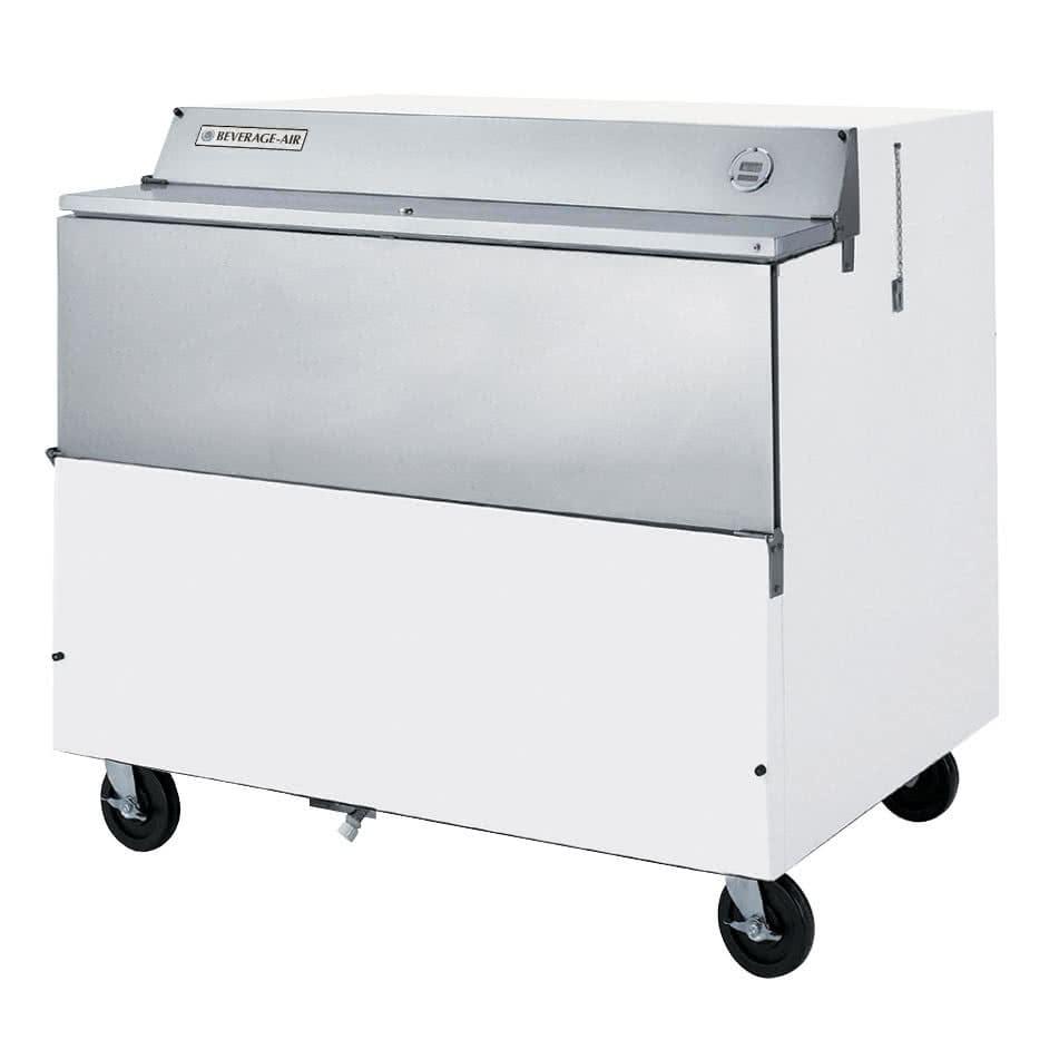 Beverage Air SMF49Y-1-W Milk Cooler w/ Top & Side Access - (768) Half Pint Carton Capacity, 115v