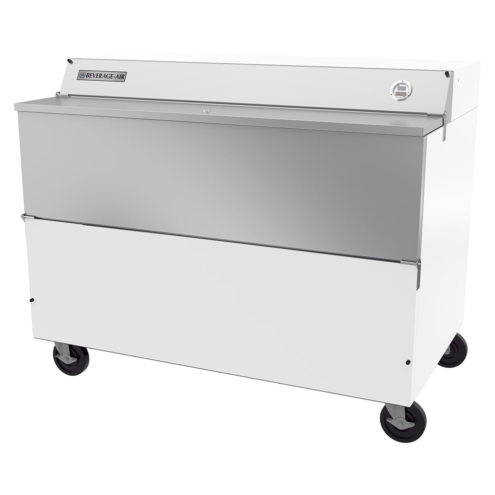 Beverage Air SMF58HC-1-W Milk Cooler w/ Top & Side Access - (1024) Half Pint Carton Capacity, 115v
