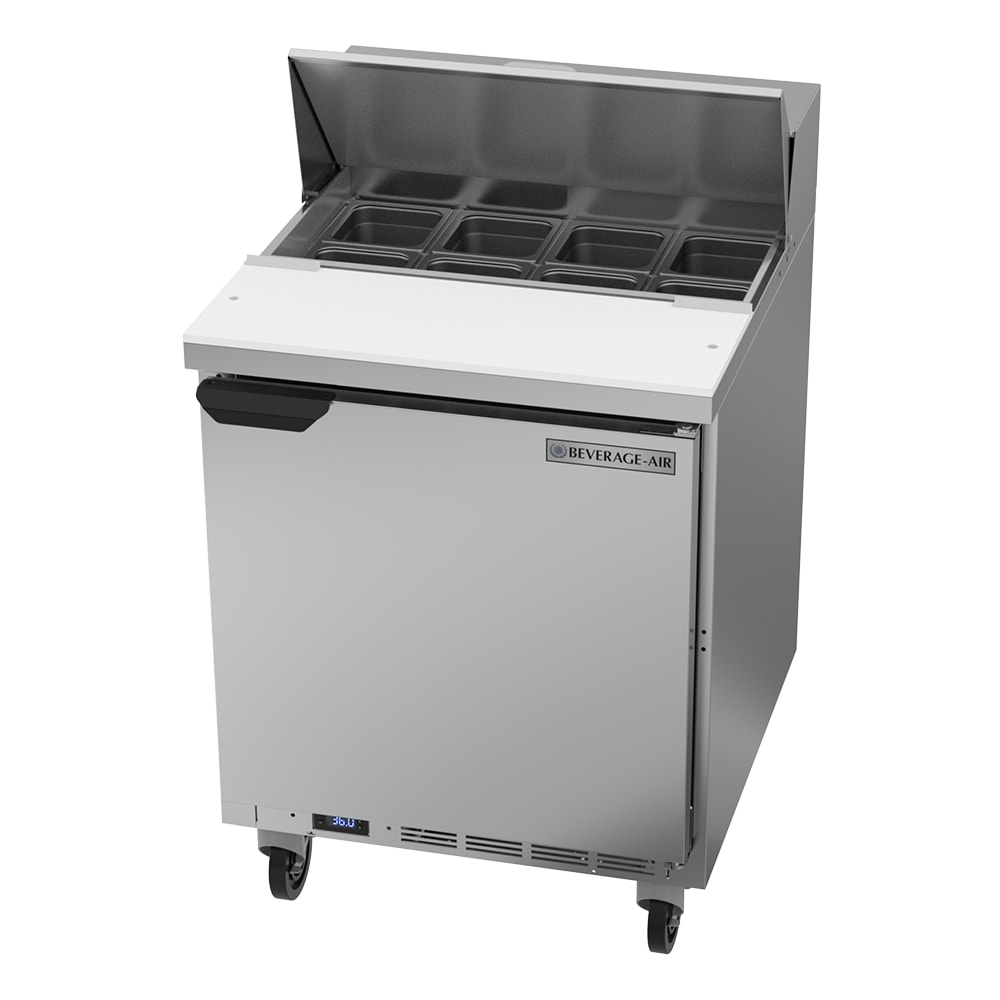 "Beverage Air SPE27HC-B 27"" Sandwich/Salad Prep Table w/ Refrigerated Base, 115v"