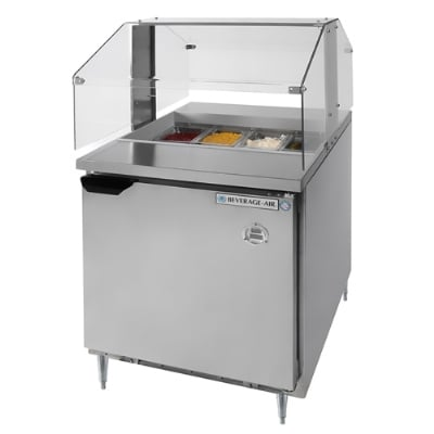 "Beverage Air SPE27-SNZ 27"" Sandwich/Salad Prep Table w/ Refrigerated Base, 115v"