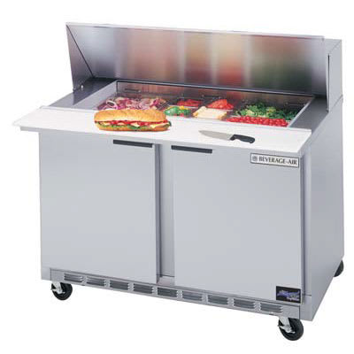 "Beverage Air SPE36-08C 36"" Sandwich/Salad Prep Table w/ Refrigerated Base, 115v"