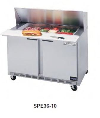 "Beverage Air SPE36-10 36"" Sandwich/Salad Prep Table w/ Refrigerated Base, 115v"