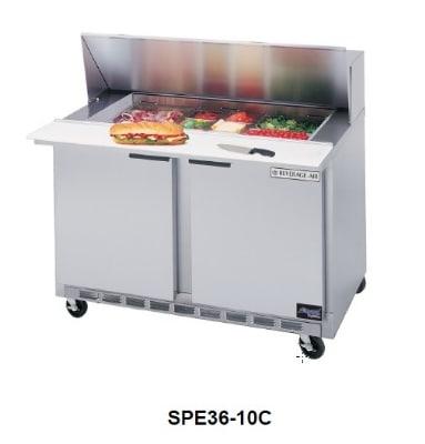 "Beverage Air SPE36-10C 36"" Sandwich/Salad Prep Table w/ Refrigerated Base, 115v"
