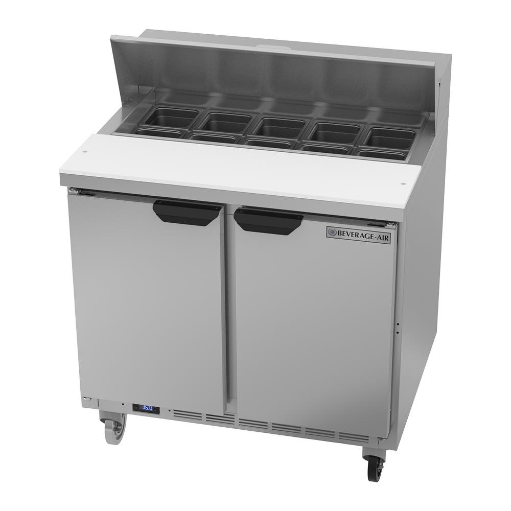 "Beverage Air SPE36HC-10 36"" Sandwich/Salad Prep Table w/ Refrigerated Base, 115v"