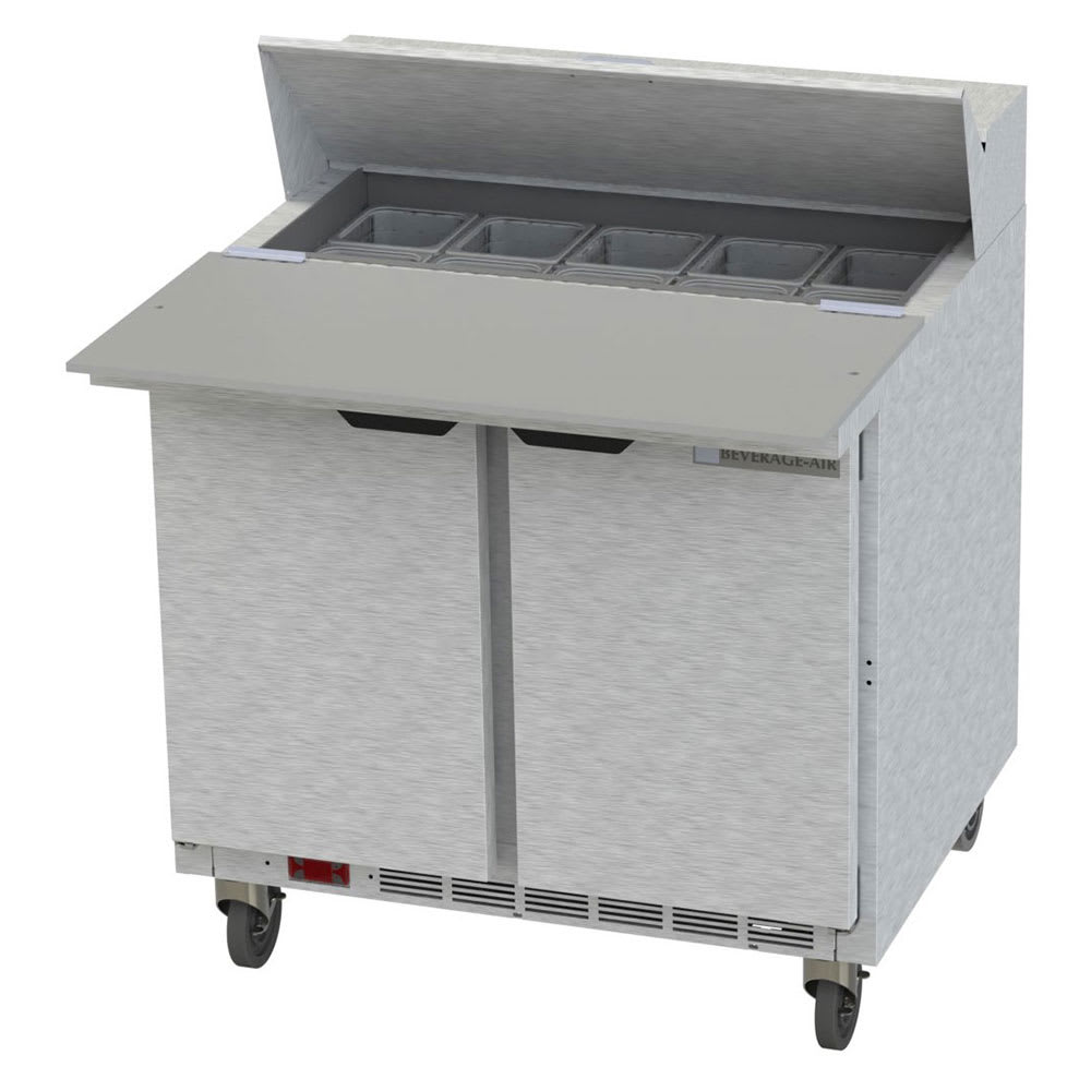 "Beverage Air SPE36HC-10C 36"" Sandwich/Salad Prep Table w/ Refrigerated Base, 115v"