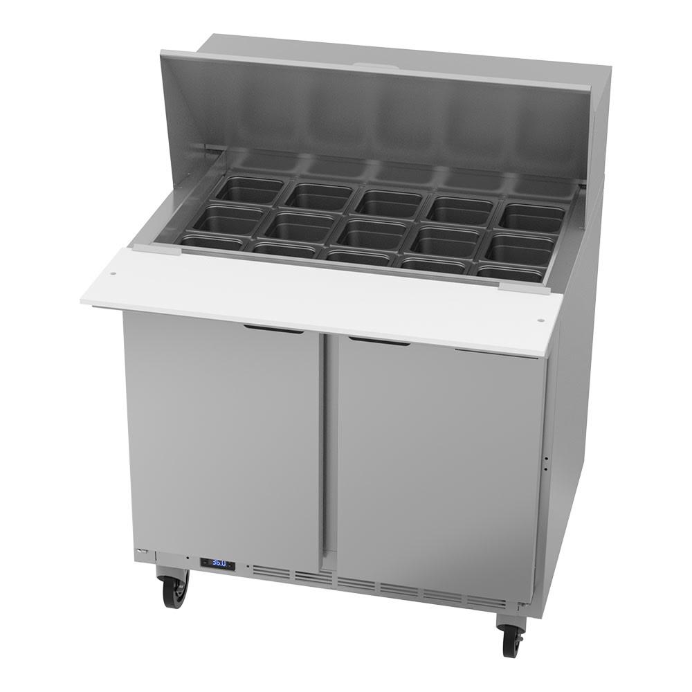 "Beverage Air SPE36HC-15M 36"" Sandwich/Salad Prep Table w/ Refrigerated Base, 115v"