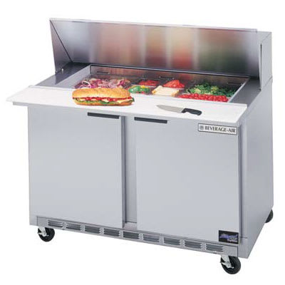 "Beverage Air SPE48-10 48"" Sandwich/ Salad Prep Table w/ Refrigerated Base, 115v"