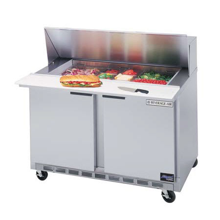 "Beverage Air SPE48-18M 48"" Sandwich/Salad Prep Table w/ Refrigerated Base, 115v"