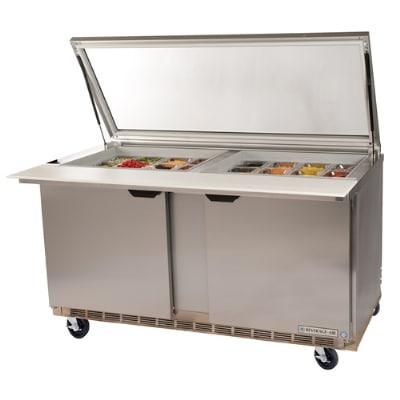 "Beverage Air SPE48-18M-STL 48"" Sandwich/Salad Prep Table w/ Refrigerated Base, 115v"