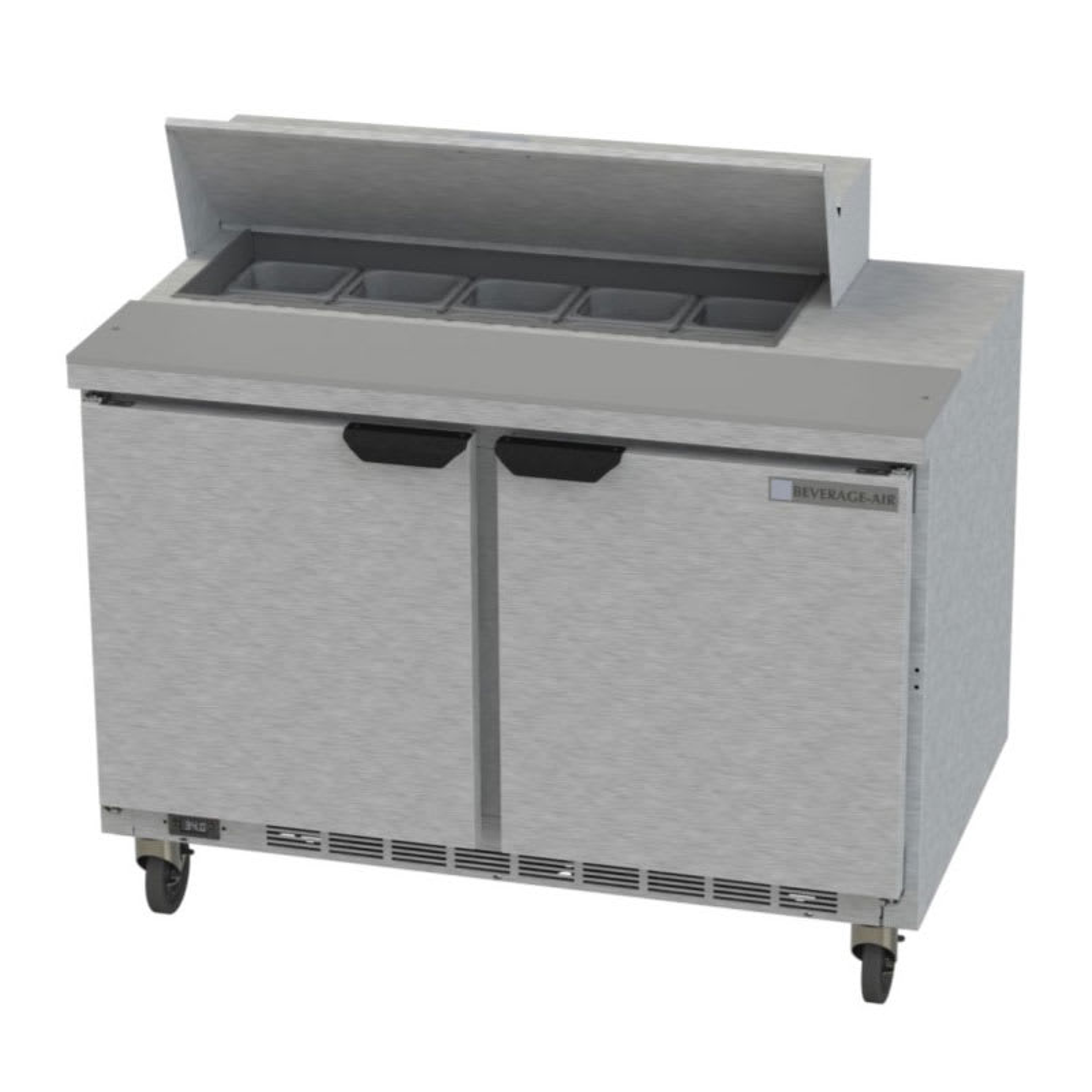 "Beverage Air SPE48HC-10 48"" Sandwich/Salad Prep Table w/ Refrigerated Base, 115v"