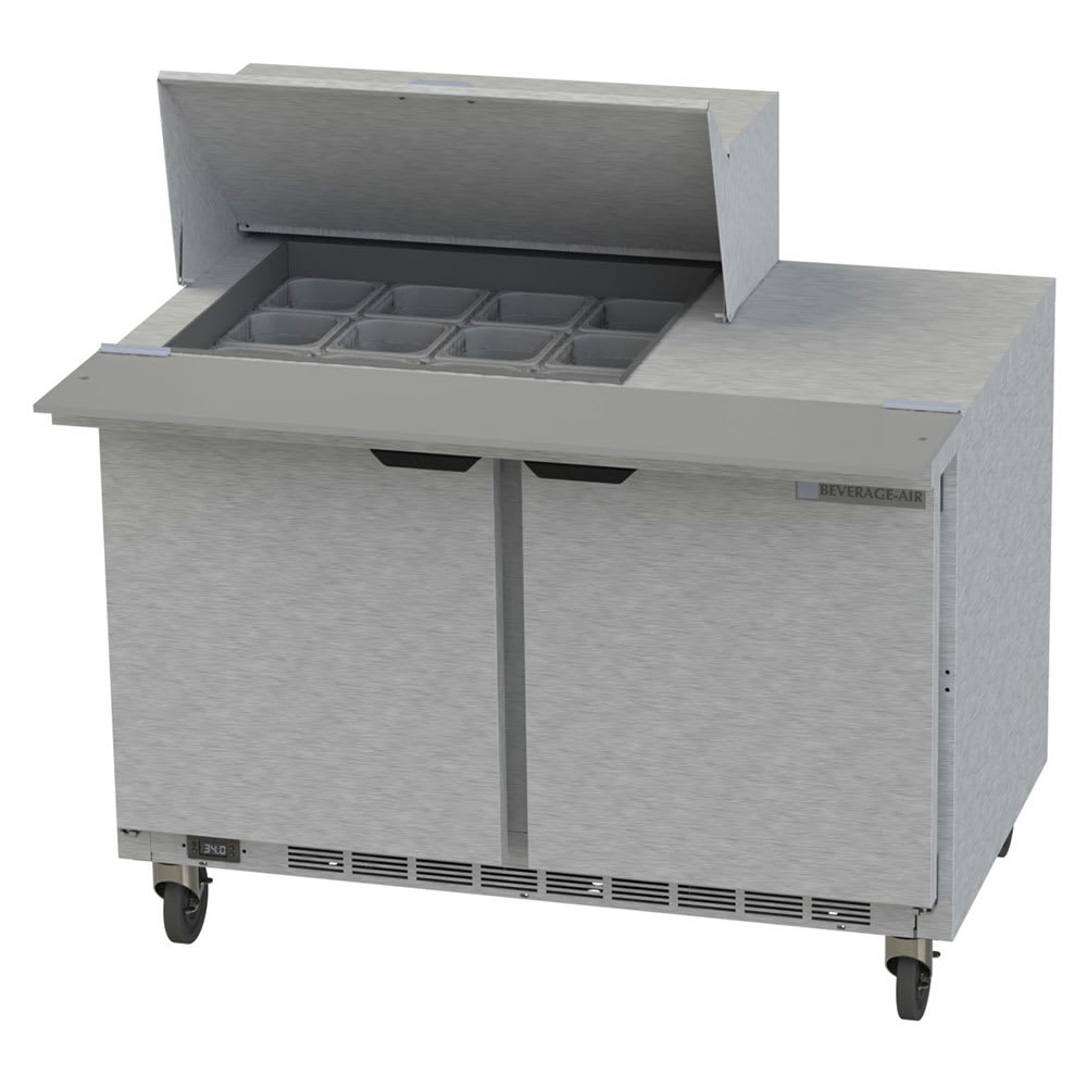 "Beverage Air SPE48HC-12M 48"" Sandwich/Salad Prep Table w/ Refrigerated Base, 115v"