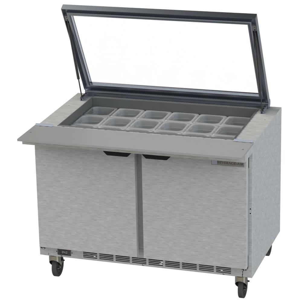 "Beverage Air SPE48HC-18M-STL 48"" Sandwich/Salad Prep Table w/ Refrigerated Base, 115v"