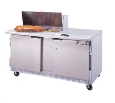"Beverage Air SPE60-08 60"" Sandwich/Salad Prep Table w/ Refrigerated Base, 115v"