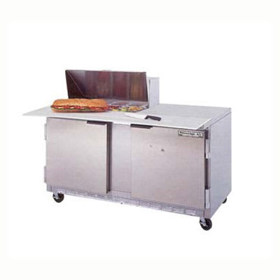 "Beverage Air SPE60-08C 60"" Sandwich/Salad Prep Table w/ Refrigerated Base, 115v"