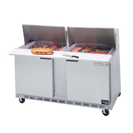 "Beverage Air SPE60-24M 60"" Sandwich/Salad Prep Table w/ Refrigerated Base, 115v"