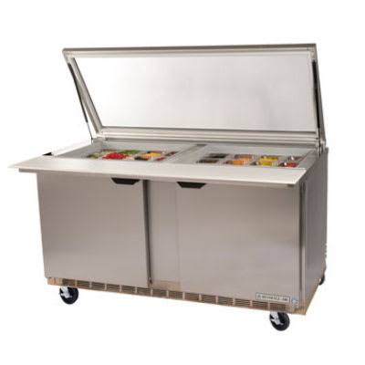 "Beverage Air SPE60-24M-STL 60"" Sandwich/Salad Prep Table w/ Refrigerated Base, 115v"