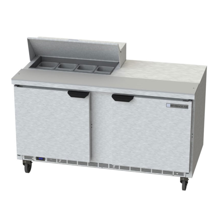 "Beverage Air SPE60HC-08 60"" Sandwich/Salad Prep Table w/ Refrigerated Base, 115v"