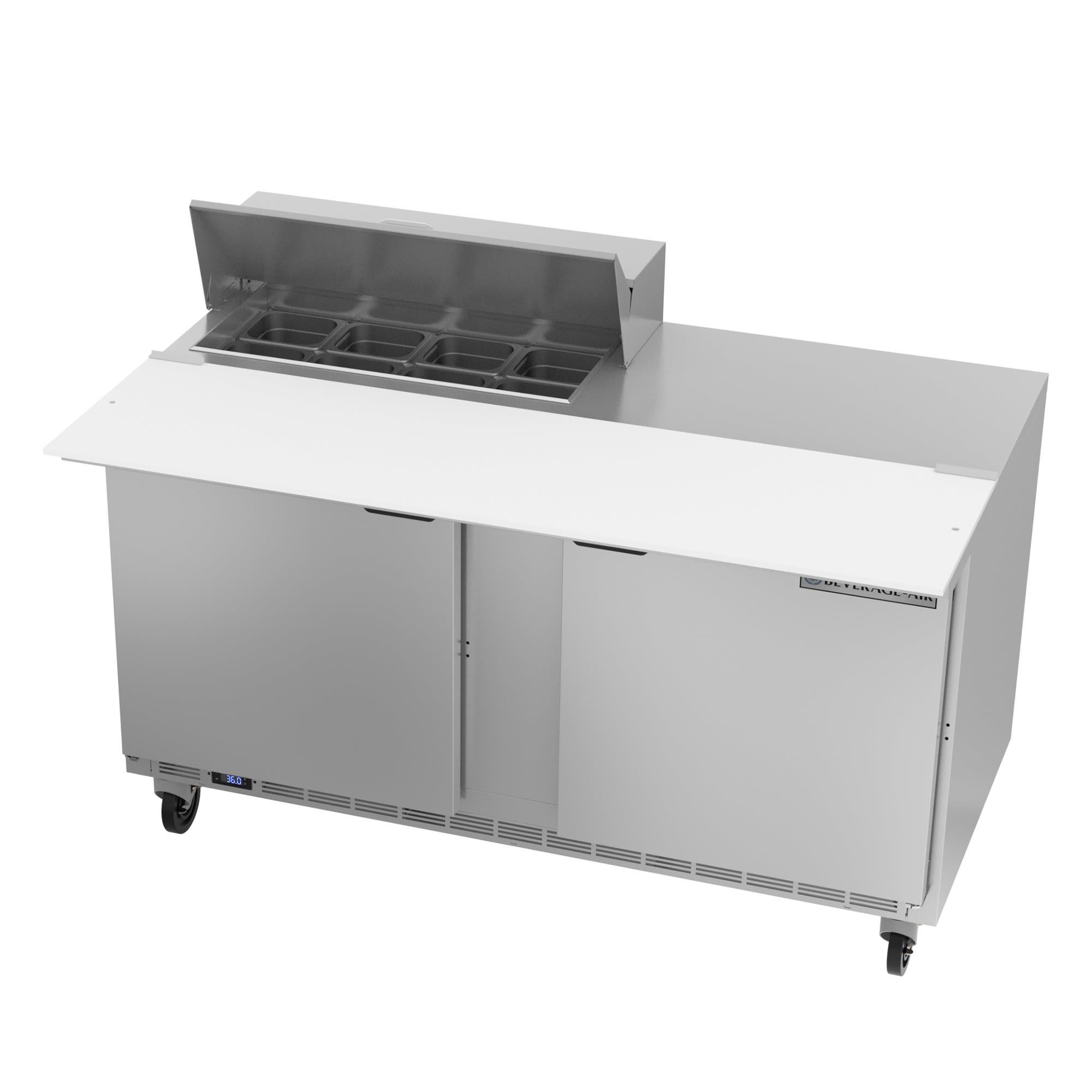 "Beverage Air SPE60HC-08C 60"" Sandwich/Salad Prep Table w/ Refrigerated Base, 115v"
