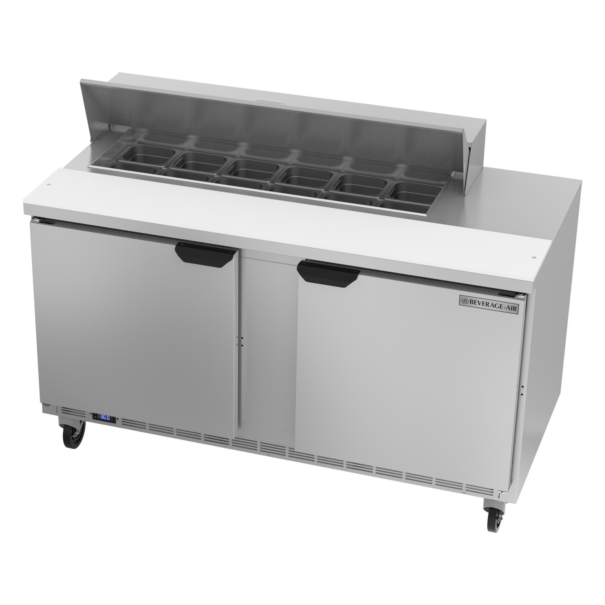 "Beverage Air SPE60HC-12 60"" Sandwich/Salad Prep Table w/ Refrigerated Base, 115v"