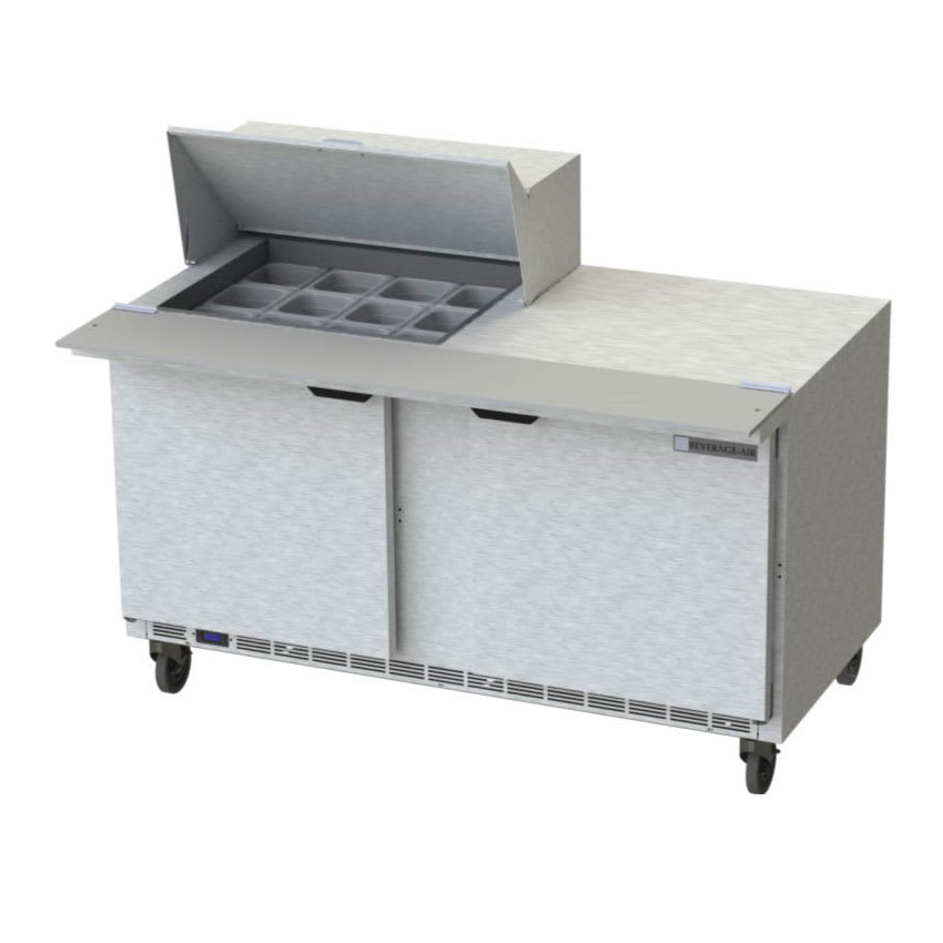 "Beverage Air SPE60HC-12M 60"" Sandwich/Salad Prep Table w/ Refrigerated Base, 115v"