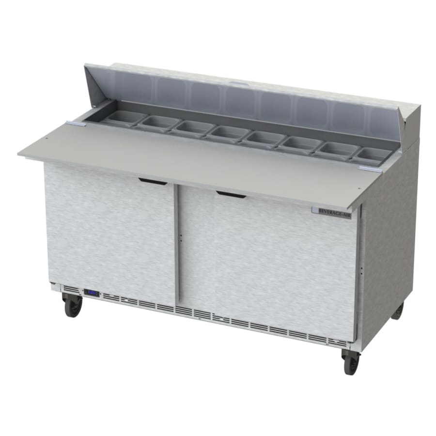 "Beverage Air SPE60HC-16C 60"" Sandwich/Salad Prep Table w/ Refrigerated Base, 115v"