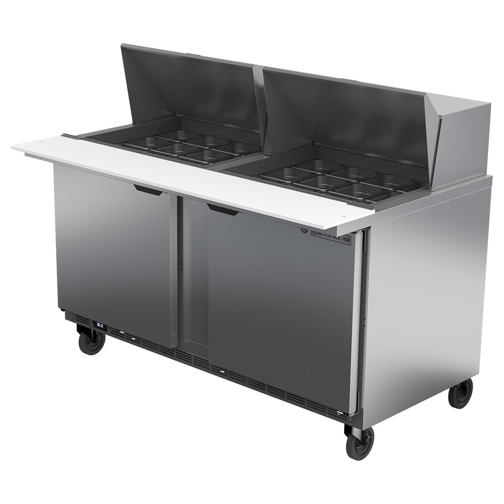 "Beverage Air SPE60HC-24M 60"" Sandwich/Salad Prep Table w/ Refrigerated Base, 115v"