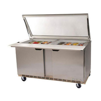 "Beverage Air SPE60HC-24M-STL 60"" Sandwich/Salad Prep Table w/ Refrigerated Base, 115v"