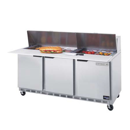 "Beverage Air SPE72-12C 72"" Sandwich/Salad Prep Table w/ Refrigerated Base, 115v"