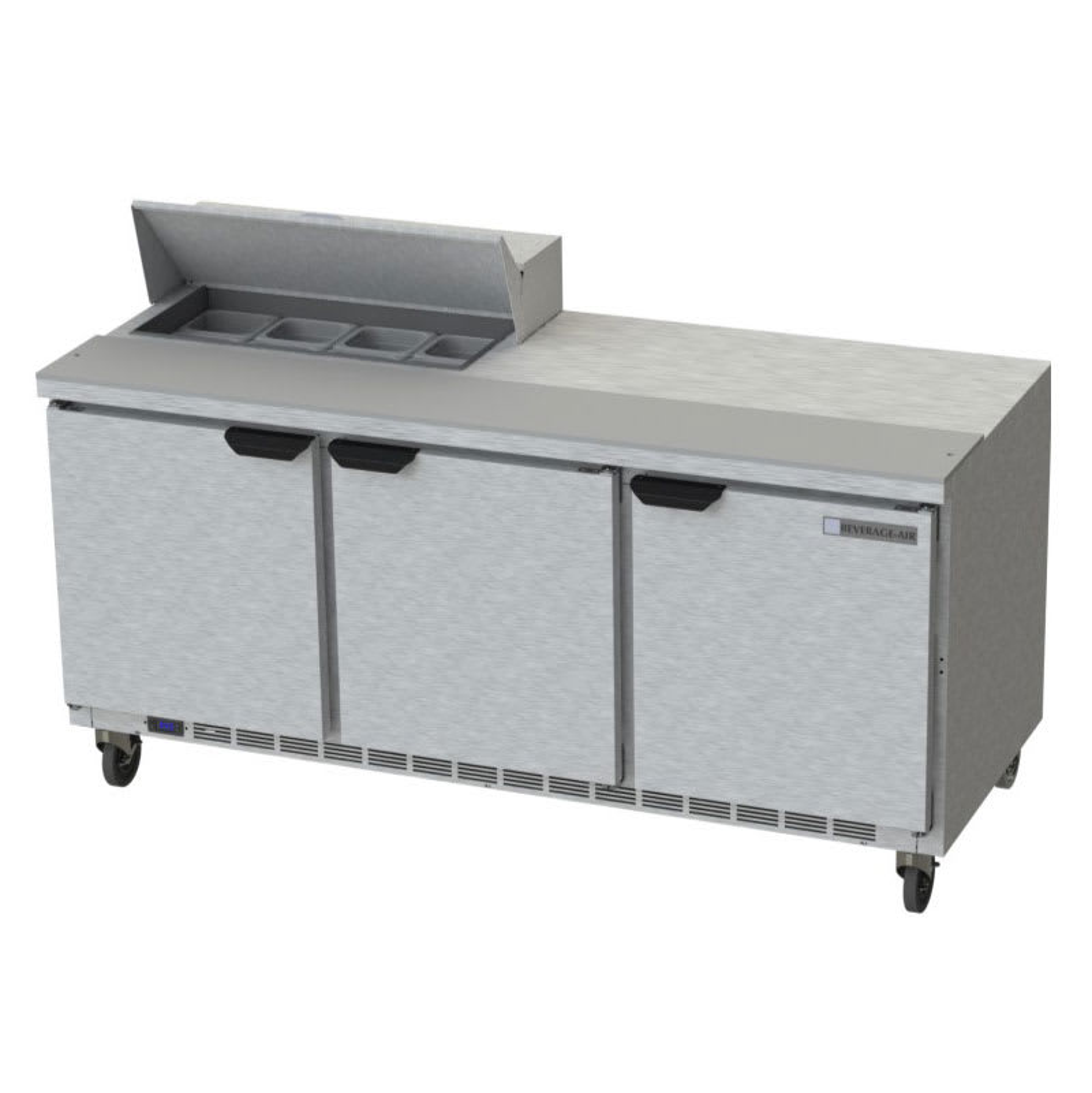 "Beverage Air SPE72HC-08 72"" Sandwich/Salad Prep Table w/ Refrigerated Base, 115v"