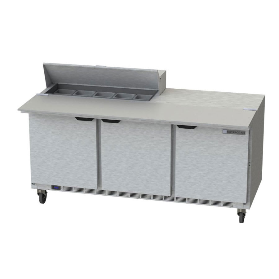 "Beverage Air SPE72HC-10C 72"" Sandwich/Salad Prep Table w/ Refrigerated Base, 115v"