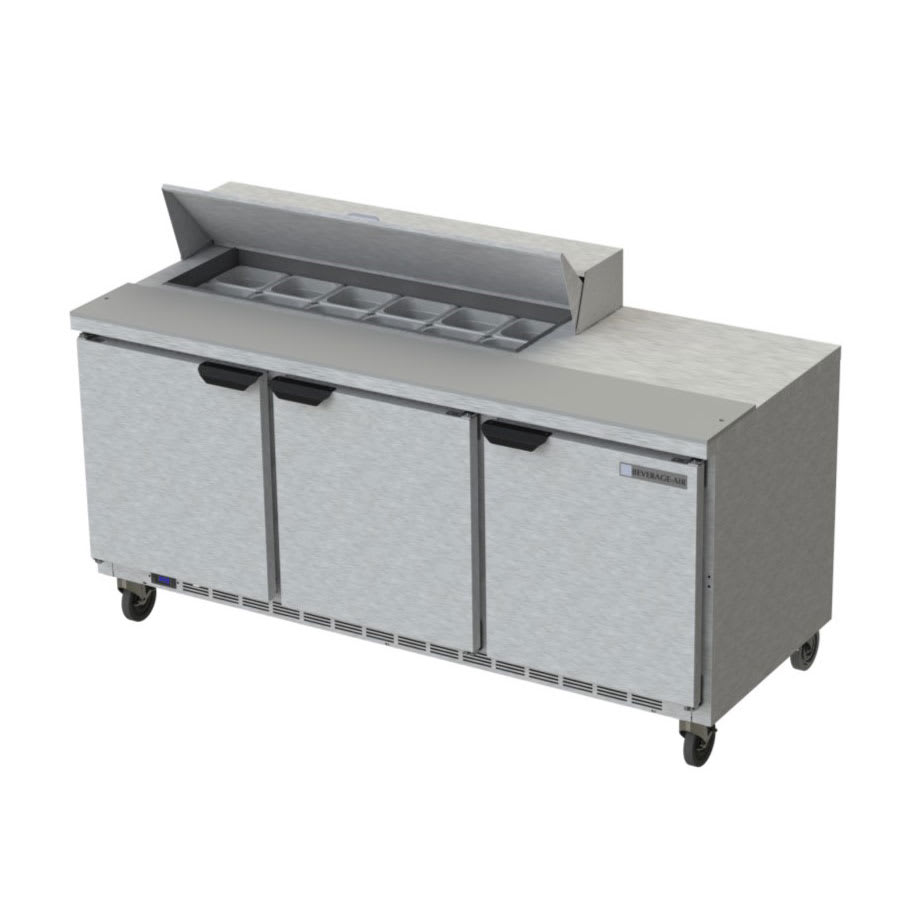 "Beverage Air SPE72HC-12 72"" Sandwich/Salad Prep Table w/ Refrigerated Base, 115v"