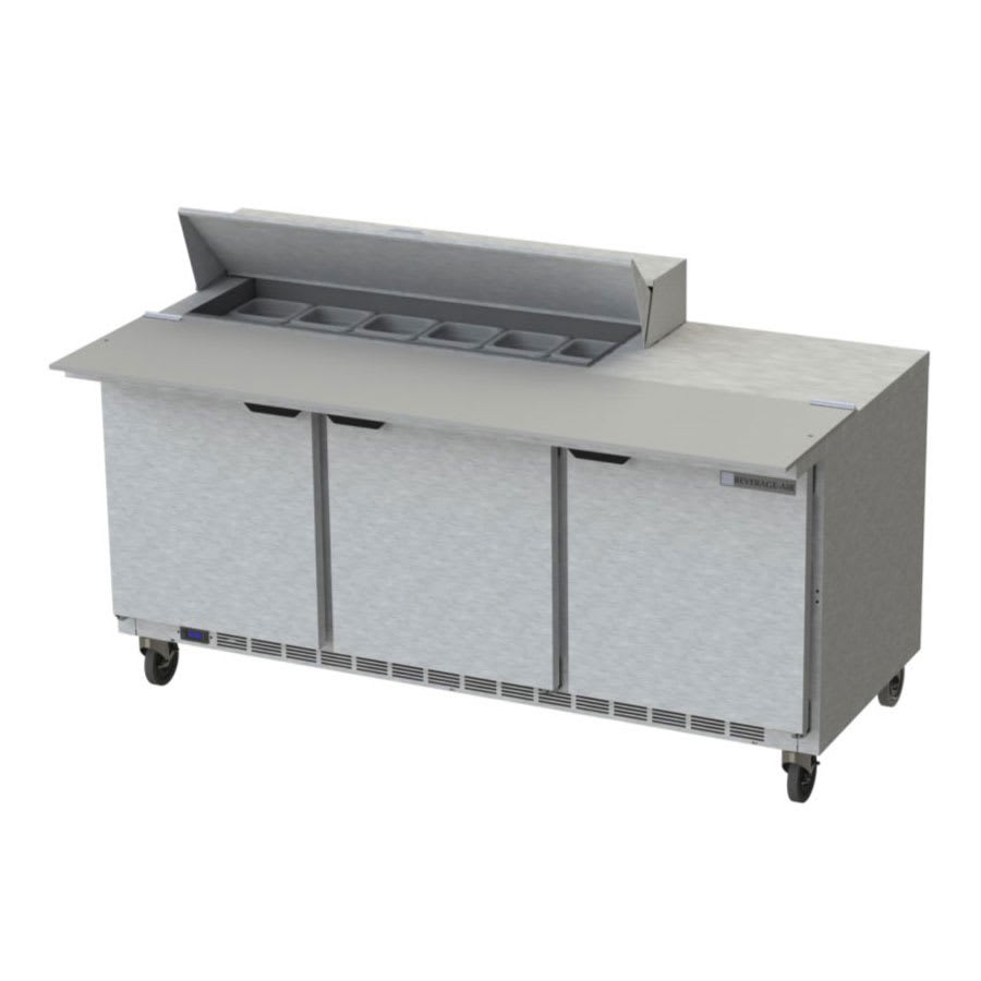 "Beverage Air SPE72HC-12C 72"" Sandwich/Salad Prep Table w/ Refrigerated Base, 115v"